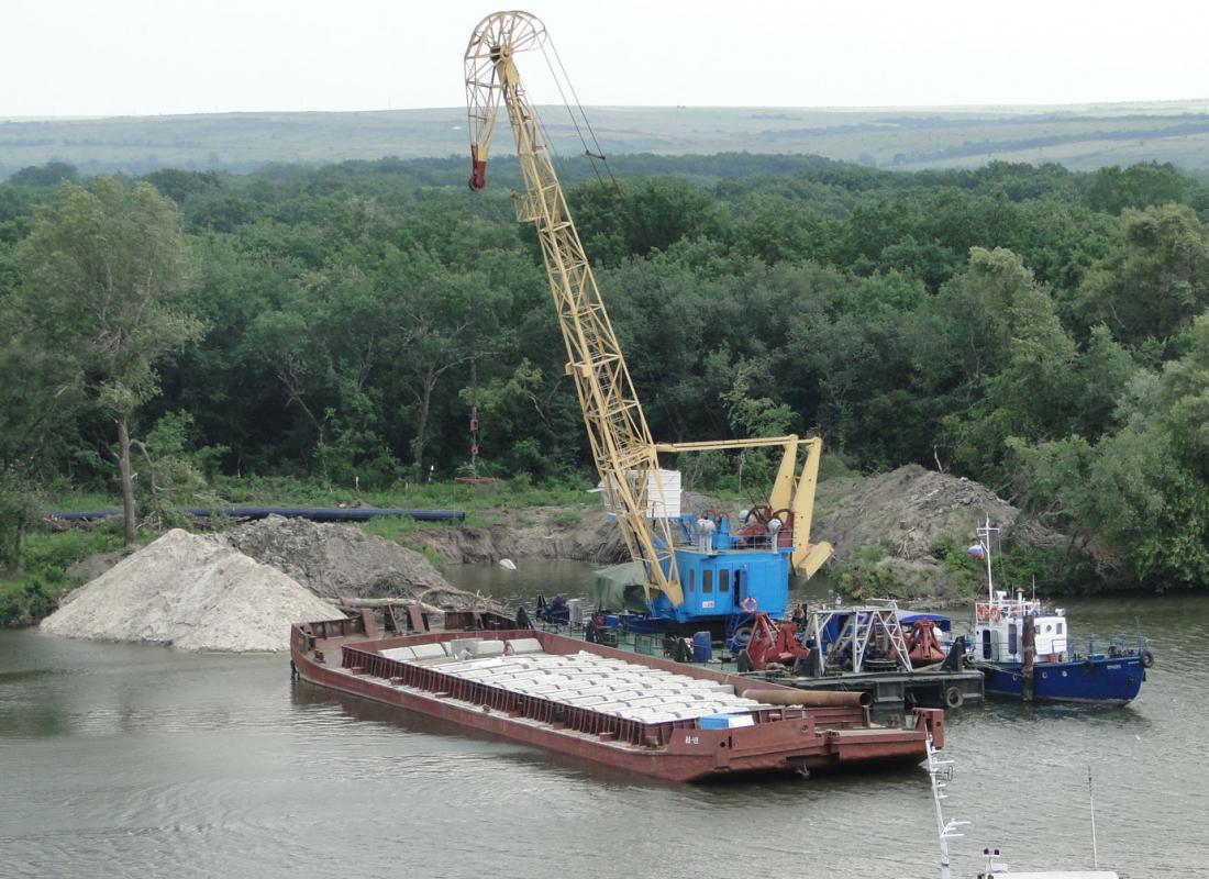 Строительство подводного перехода